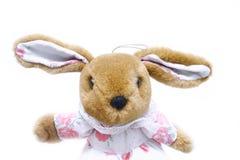 Toy rabbit. Isolated on white Stock Photos