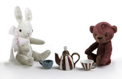 Toy rabbit and bear Royalty Free Stock Images