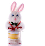 Toy rabbit drummer Stock Image