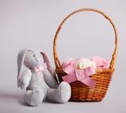 Toy rabbit. Handmade Stock Photos