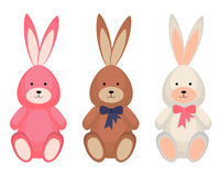Toy rabbit set Royalty Free Stock Images