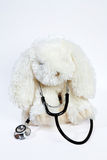 Toy rabbit with stethoscope Stock Photo