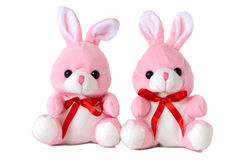 Toy rabbits Stock Photos