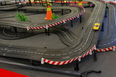 Toy race track. Closeup of a toy race track Stock Photo