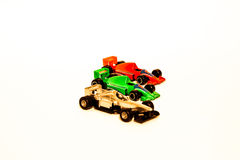 Toy racer cars Royalty Free Stock Photo
