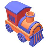 Toy train with black outlines Stock Image
