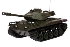 Toy RC tank. Toy Remote Control tank isolated Royalty Free Stock Image