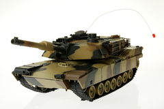 Toy RC tank. On white Stock Images