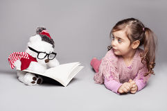 Toy reading Royalty Free Stock Image