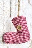 Toy - red christmas sock hanging. Handmade Christmas decoration. Toy - red christmas sock hanging Stock Image