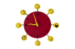 Toy red clock. Royalty Free Stock Image
