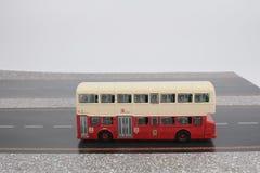Toy Red Double Decker Bus lizenzfreie stockfotos