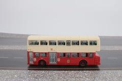 Toy Red Double Decker Bus stockbild