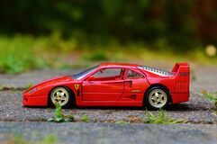 Toy red Ferrari Stock Images