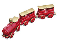 Toy red train Stock Photo