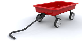 Toy red wagon Royalty Free Stock Photo