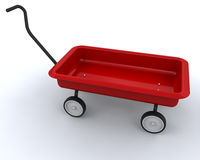 Toy red wagon Stock Image