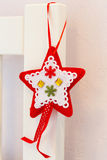 The toy red and white star Royalty Free Stock Photo