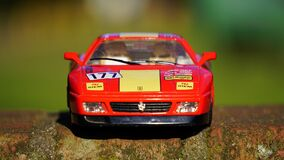 Toy Red Yellow Racecar Royalty Free Stock Photography