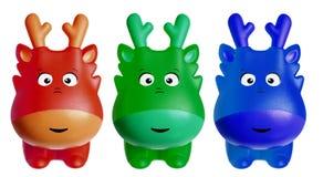 Toy Reindeers Stock Photo
