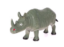 Toy Rhino Stock Foto