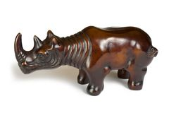 Toy rhinoceros Stock Images