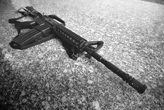 Toy Rifle. A photo taken off a toy replica assault rifle Royalty Free Stock Image