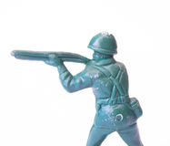 Toy rifleman close up Stock Photos