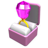 Toy Ring In Box Libre Illustration
