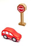 Toy Road Sign Stockbilder