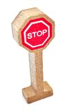 Toy Road Sign Fotografie Stock