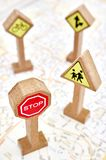 Toy Road Sign Immagine Stock