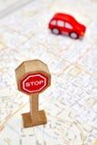 Toy Road Sign Fotografia Stock Libera da Diritti