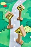 Toy Road Sign Fotografie Stock Libere da Diritti