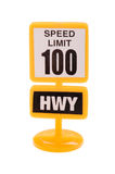 Toy road sign isolated on white Royalty Free Stock Photos