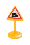 Toy road sign macro Royalty Free Stock Image