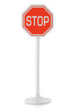 Toy road sign STOP Stock Photo