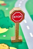 Toy Road Sign Royalty Free Stock Images