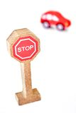 Toy Road Sign Stock Photography