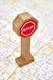 Toy Road Sign Royalty Free Stock Image