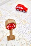 Toy Road Sign Royalty Free Stock Photography