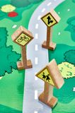 Toy Road Sign Royalty Free Stock Photos
