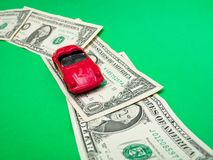 Toy Roadster on Dollar Way Stock Image