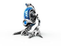 Toy Robot. 3d render of a toy robot on the white background Stock Photography