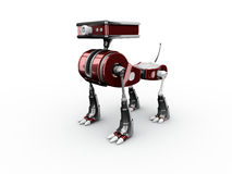Toy Robot. 3d render of a toy robot on the white background Stock Photo