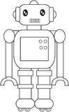 Toy robot coloring page Royalty Free Stock Photography