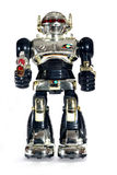 Toy robot with a gun royalty free stock images