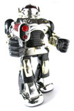 Toy robot with gun fisheye pic royalty free stock images