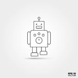 Toy Robot Icon. Toy Robot Line Icon Vector vector illustration
