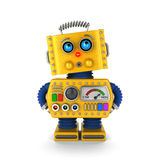 Toy robot looking innocently Royalty Free Stock Photography